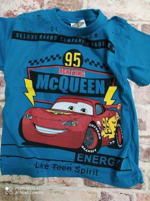 Тумно синя тениска Маккуин
