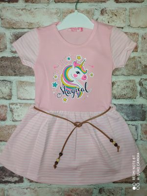 Розова рокля Еднорог
