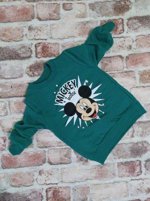 Зелена блуза момче лека вата с Мики