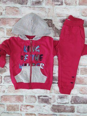 Детски комплект момче в цвят бордо