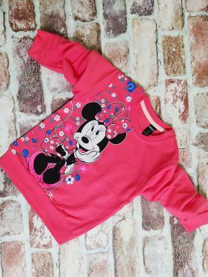 Розова блуза момиче с лека вата