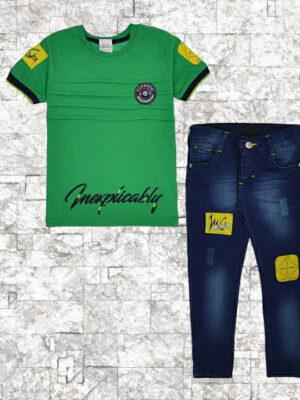 Комплект за момче дънки с тениска