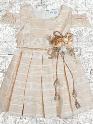 Детска рокля с паднал ръкав