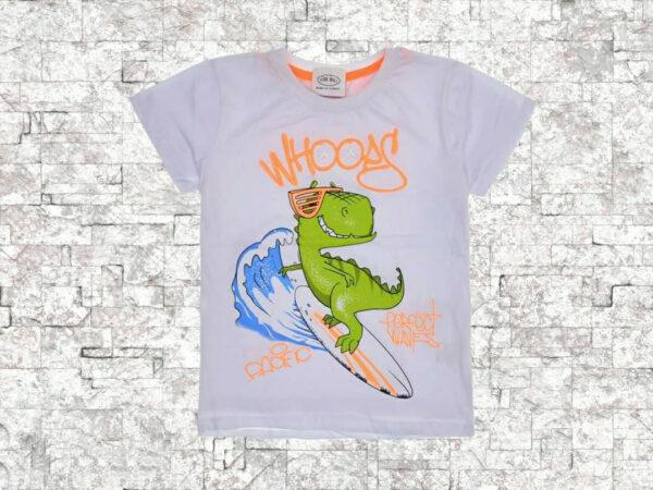 Тениска момче бяла Динозавър