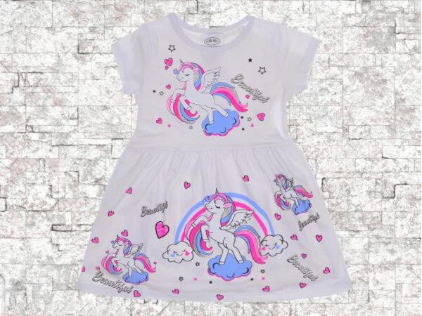 Детска рокля Еднорог дъга