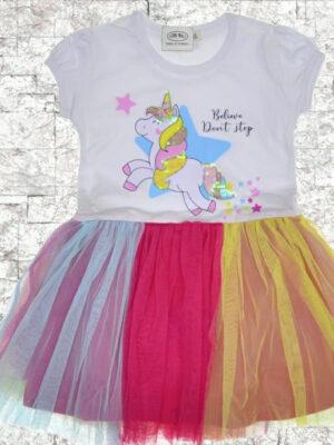 Детска рокля Еднорог тюл