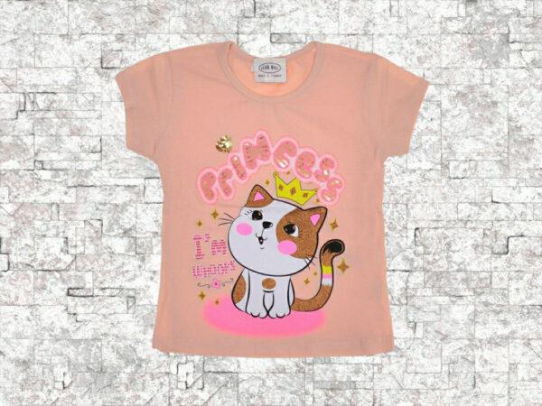 Тениска момиче коте с корона
