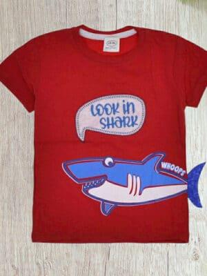 Тениска за момче с акула