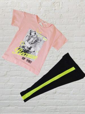 Комплект тениска с клин за момиче