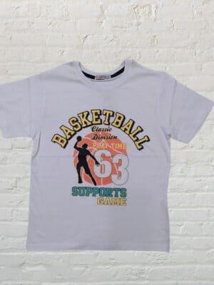 Бяла тениска за момче