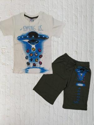 Летен комплект за момче тениска с къси панталони